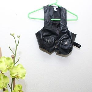 Crop Leather Vest